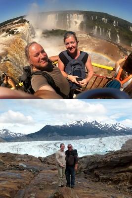 Véronique Wasteels et Frank Leautaud en Patagonie et à Iguazu