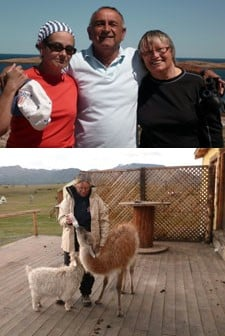 Sylvie Couret, Maryse Valette et Joël Gros en Patagonie