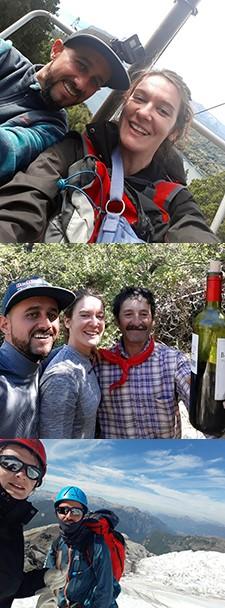 Sarah Cronier et Mickaël Hoarau en Patagonie