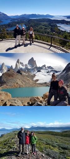 Laurence et Déborah Dujardin, Patrice Guillaume en Patagonie