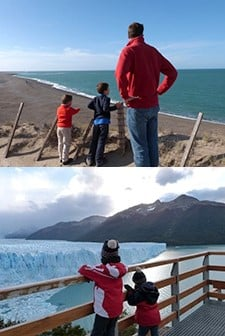 Guilhem, Maylis, Clément et Éloi en Patagonie