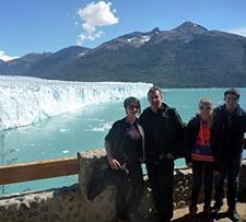 Audrey, Valérie, Maxime et Jean-Jacques Pietrantoni en Patagonie