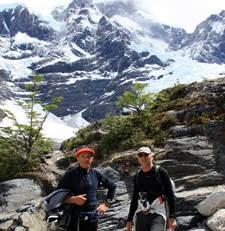 Jeanne et Jacques Favreau, Anne-Marie et Robert Pottier en Patagonie