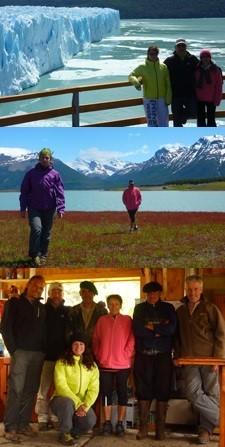 Richard, Mireille et Charlène Greiffemberg en Patagonie