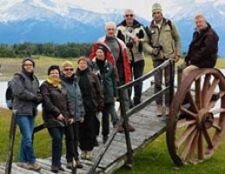 Mr et Mme Guillerme, Cano, Le Porho, Delahaye - Duthé, Lerou - Diemert, en Patagonie