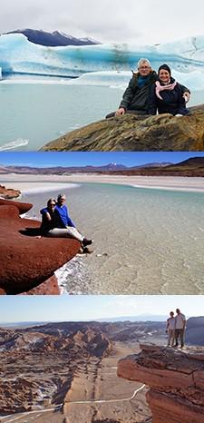 Françoise et Vincent Hannouille en Patagonie, à Iguazu, Atacama et Ile de Pâques