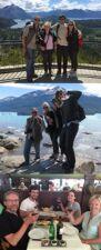 La famille Campion : Anne, Sophie, Christian et Robin Sebilo en Patagonie et à Iguazu