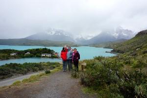 Geneviève Materne, Anne Castelain et Jean-Christophe Chielens en Patagonie