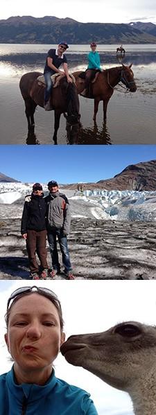 Cendrine Morvan et Christophe Perron en Patagonie argentine