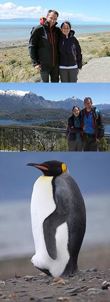 Élise Thiériot et Frédéric Cancel en Patagonie à Ushuaia