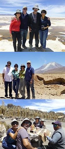 Nicole et Didier Villatte, Hélène et Yves Boutière au Pérou, en Bolivie, Chili et Ile de Pâques