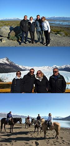 La famille Gaillard : Philippe, Florence, Vincent et Audrey en Argentine