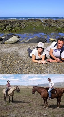 Stéphanie Gentit et Guy Munerol en Patagonie