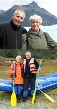 Nadine et Jean-Pierre Pertuc en Patagonie