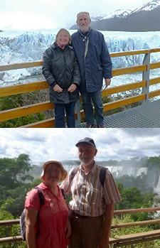 Patrick et Janine Saulas en Argentine