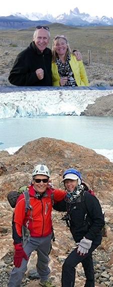 Hélène Garbay et Jacques Zanota en Patagonie argentine