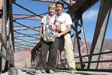 Freddy Baudinet et Catherine Thiebaud en Argentine