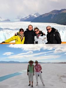 Annie et Bernard Brisson, Édith et Jean-Paul Masse en Argentine