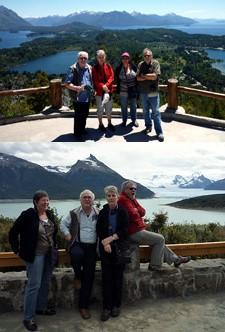 Primo et Jacqueline Bursik, André et Paulette Schule en Argentine et au Chili
