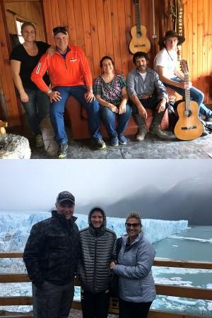 Carine Lion, Patrick et Eliot Grégoire en Argentine et au Chili