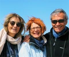 Françoise et Pierre Desseignes et Catherine Blanc en Argentine