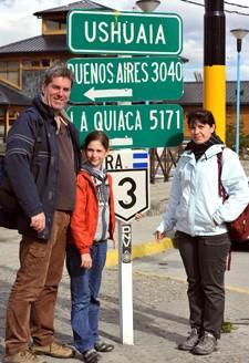 Galina, Hugues et Aglaïa Laurent en Argentine