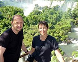 Françoise Lumay et Michel Vanstals en Argentine