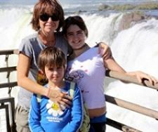 Aurélia, Swann et Maëlia Modica en Argentine
