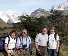 Françoise et Daniel Schlienger, Robert Goujet et Françoise Quairel en Argentine