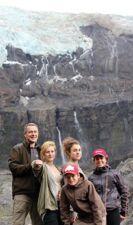François, Andréa, Aurélie, Achille Raymond et Léa Grégori à Bariloche