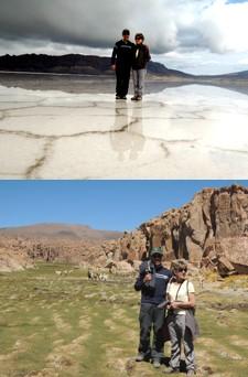Marie-Gabrielle et Édouard Hernandez en Bolivie