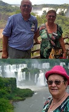 Chantal et Claude Deruelle à Buenos Aires et Iguazu