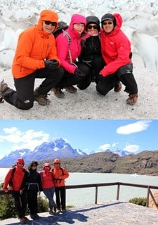 Paulette et André Cangrand, Maryse et Jacques Derien au Chili et en Argentine