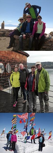 Richarde et Jean Rudloff, Marie-Thérèse et Jean-Pierre North au Chili et en Bolivie