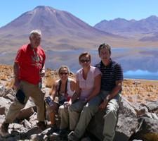Katherine et Jacques Desaint, Marie-Pascale et Hervé Cevaer au Chili