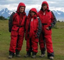 Christiane Geslin, Jean Solari et Jacques Dubreuil au Chili
