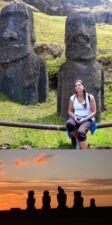 Monique Taula sur l'ile de Pâques au Chili