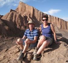 François et Marie-France Raynaud au Chili