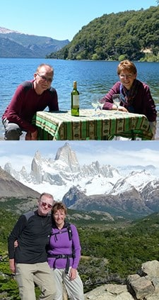 Denise et Jean-Jacques Schmitt à Iguazu et en Patagonie