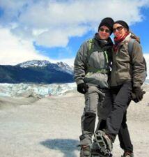 Steeve Perdriau et Stéphanie Boutorine en Patagonie