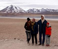 Catherine, Charles, Emma et Félix Kloboukoff au Chili et en Bolivie