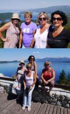 Annick Borie, Sylviane, Valérie et Marie-France en Argentine