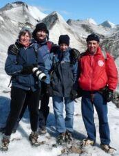 Odile, Frédéric, Alexandre Eglin et Yannick Joselon en Patagonie argentine et chilienne