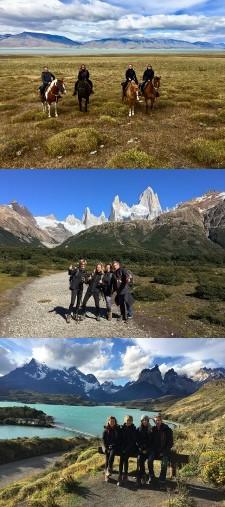 Alix, Laurent, Saskia et Wladia Lancrey-Javal en Patagonie argentine et chilienne