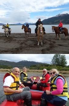 Monique et Philippe Saussereau, Patricia et Jacques Berthail en Patagonie