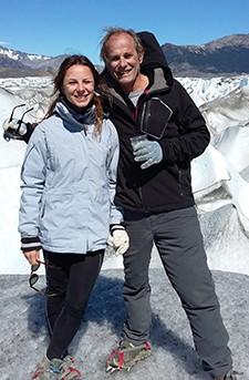 Jean-Pierre Caillol et Manon Léonardi en Patagonie
