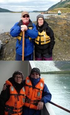 Agnès Boivin et Étienne Aubry en Patagonie