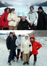 Groupe Chauvelin : Danielle, Nicole, Ginette, Andrée et Marie-Reine en Patagonie