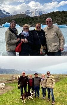 Claude et Chantal Deruelle, Jean-Pierre et Dominique Huppe en Patagonie