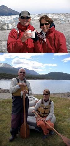 Aline et Raymond Giron en Patagonie et aux Chutes d'Iguazu